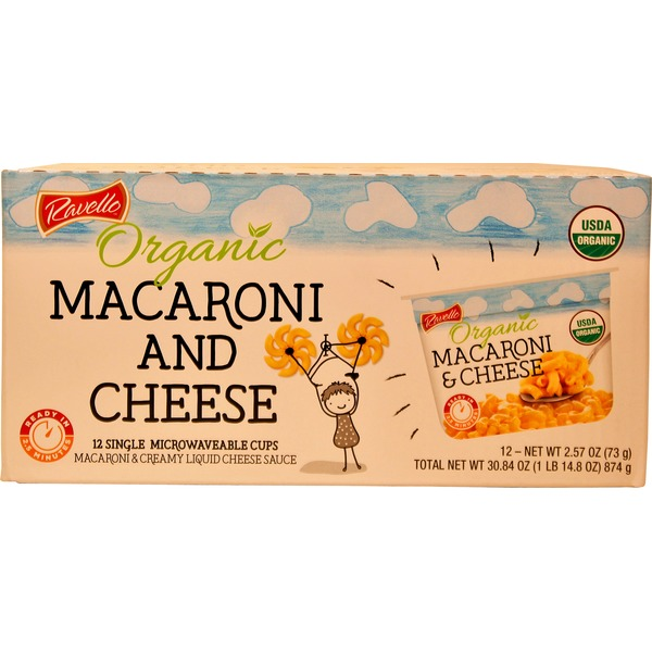 Organic Ravello Cheddar Mac & Cheese 12/2.57 Ounce Cups
