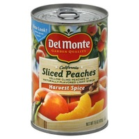 Del Monte Harvest Spice Yellow Cling Peaches in Naturally Flavored Light Syrup Peaches