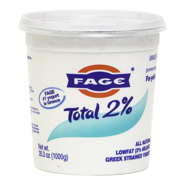 Fage Total 2% Lowfat Plain Greek Strained Yogurt