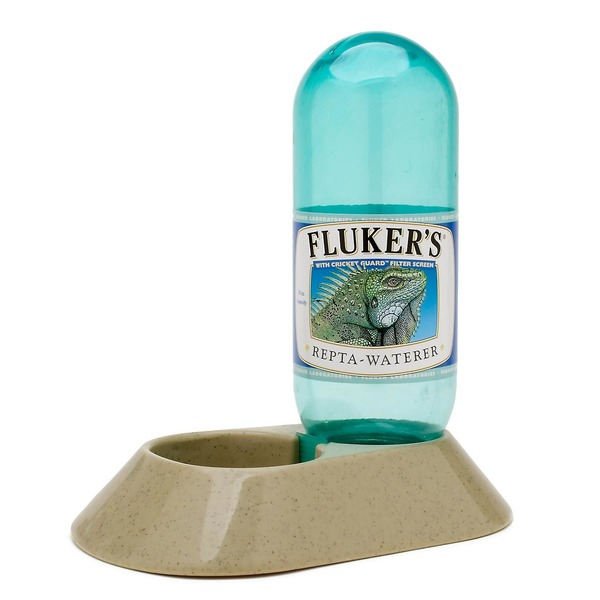 Fluker's Plastic Repta Waterer With Cricket Guard Filter Screen