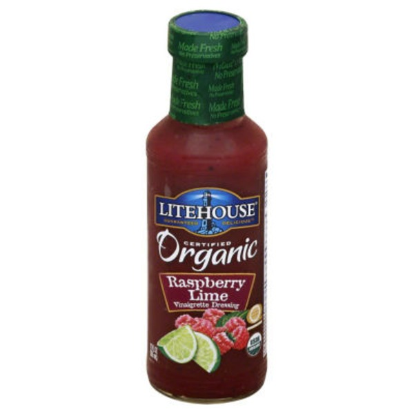 Litehouse Organic Raspberry Lime Vinaigrette Dressing