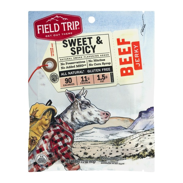 Field Trip All Natural Gluten Free Beef Jerky Honey Spice no. 11