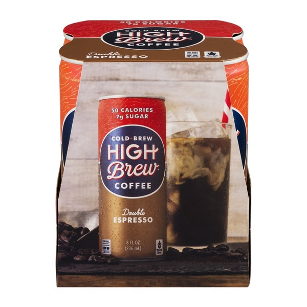 High Brew Cold-Brew Coffee Double Espresso - 4 CT