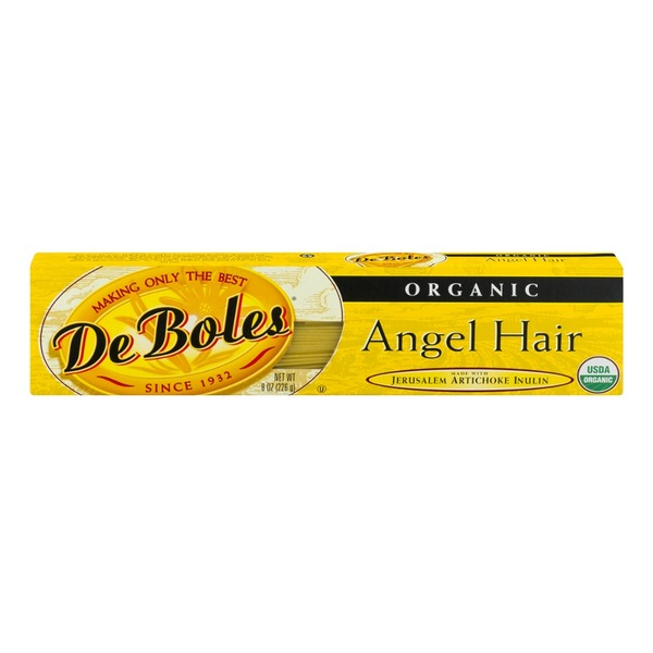 DeBoles Organic Angel Hair Pasta made with Jerusalem Artichoke Inulin