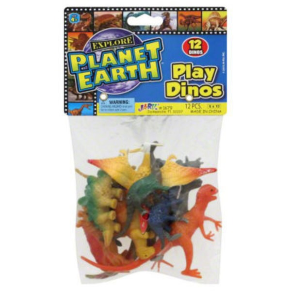 Ja-Ru Inc. Planet Earth Play Dinos - 12 CT