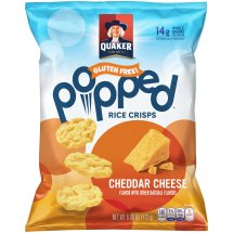 Quaker® Popped® Cheddar Cheese Rice Crisps 6.06 oz. Bag