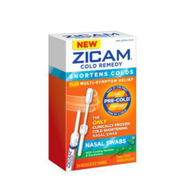 Zicam Cold Remedy Plus Multi-Symptom Relief Nasal Swabs - 20 CT