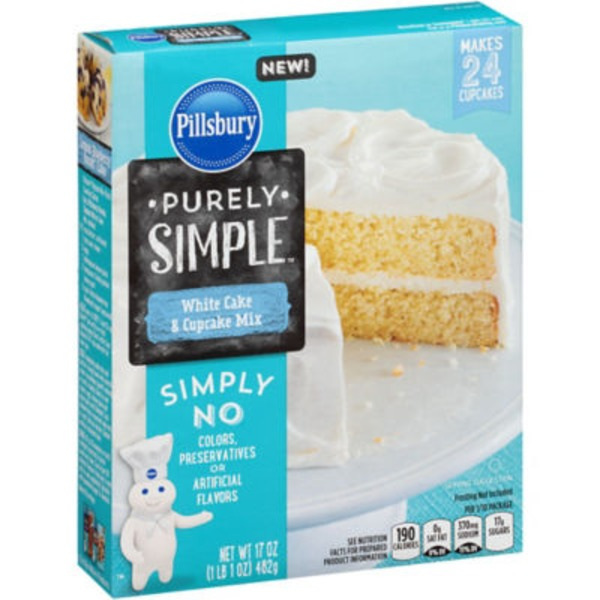 Pillsbury Purely Simple Vanilla Cake and Cupcake Mix