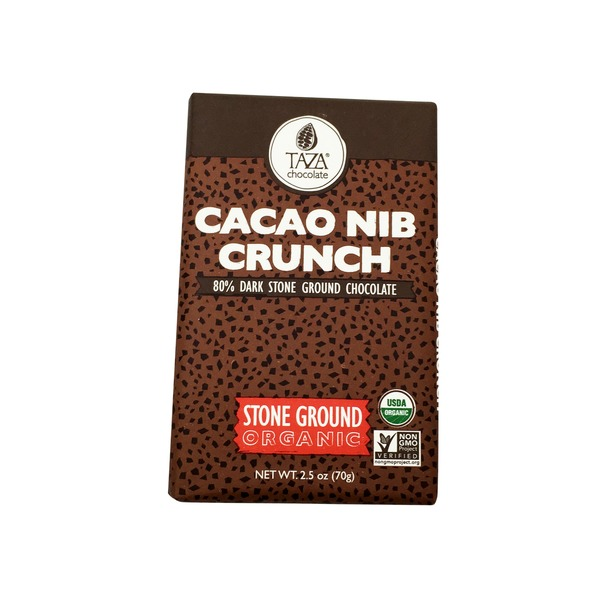 Taza Chocolate Cacao Nib Crunch Stone Ground Organic