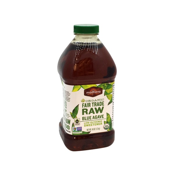 Madhava Organic Fair Trade Raw Blue Agave Low-Glycemic Sweetener