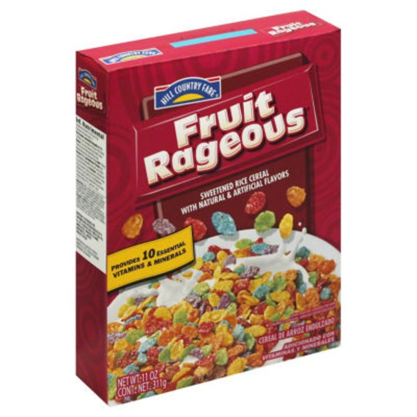 Hill Country Fare Fruit Rageous Cereal
