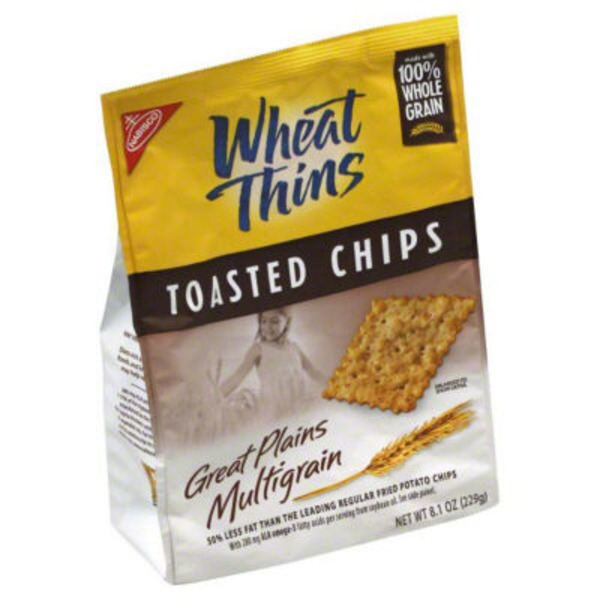 Nabisco Toasted Chips Great Plains Multigrain Wheat Thins