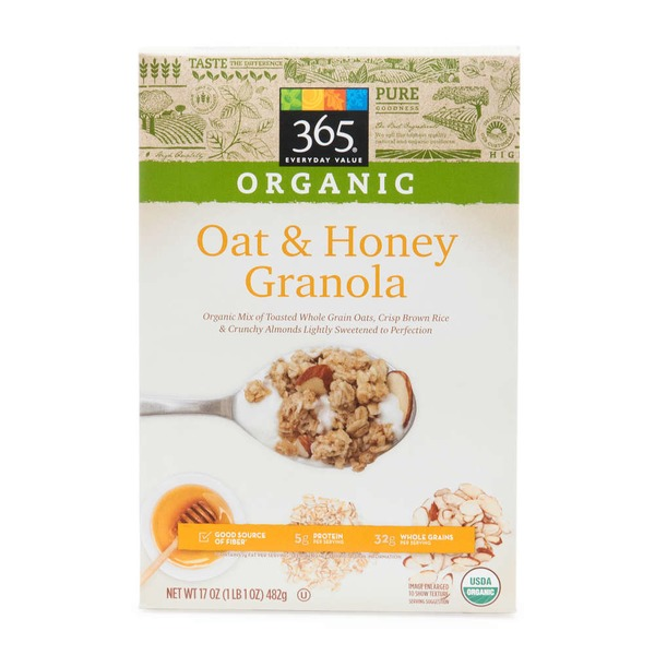 365 Organic Oat & Honey Granola