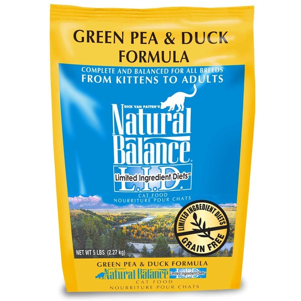 Natural Balance Green Pea And Duck Formula Limited Ingredient Cat Food 2 Lbs.