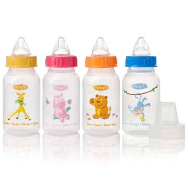 Evenflo Zoo Friends 4 Oz Bottles