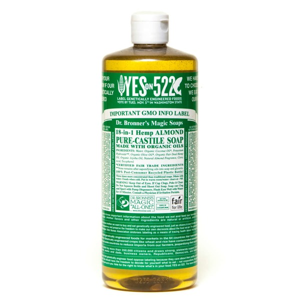 Dr. Bronner's Magic Soaps 18-in-1 Hemp Pure-Castile Soap Almond