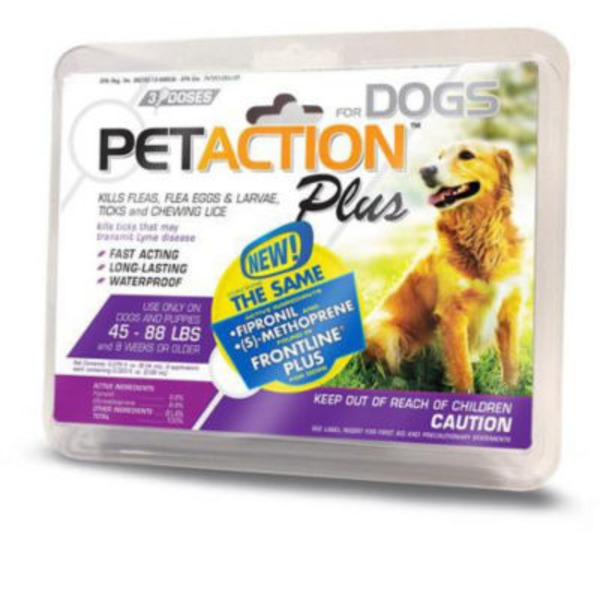 Pet Action Flea, Tick & Lice Treatment, for Dogs, 45-88 Lbs