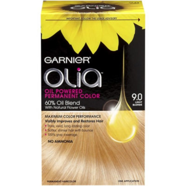 Olia™ 9.0 Light Blonde Oil Powered Permanent Color