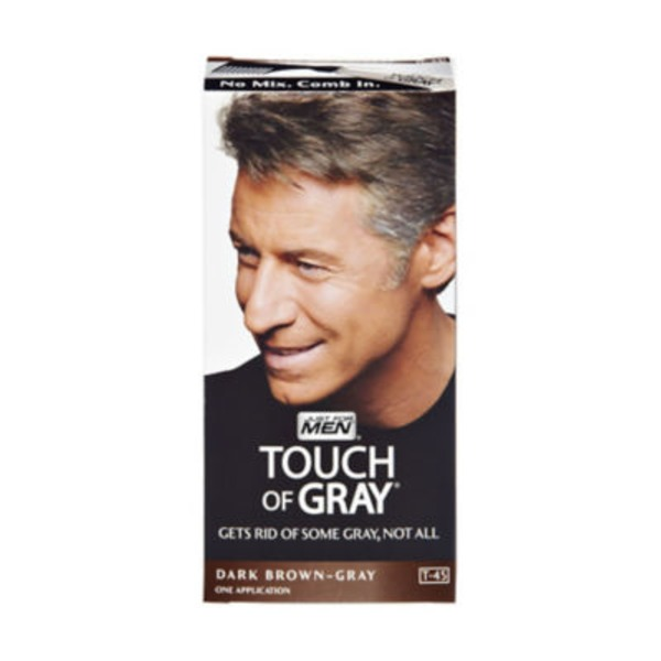 Just For Men Touch of Gray Hair Color Application Kit Dark Brown T-45