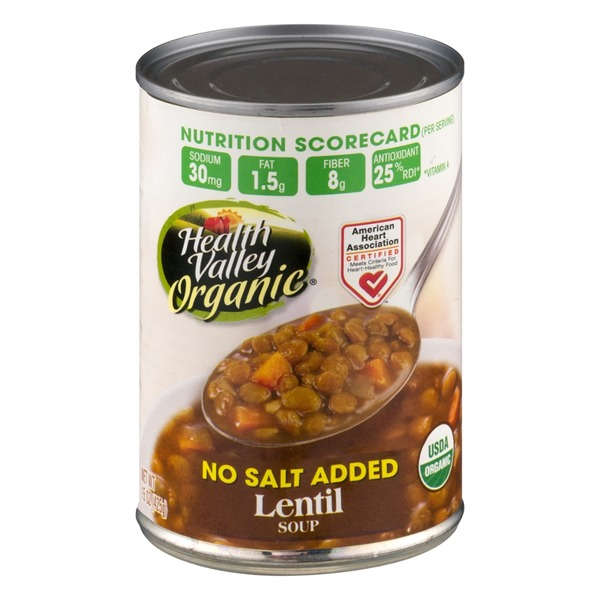 Health Valley Organic No Salt Added Lentil Soup