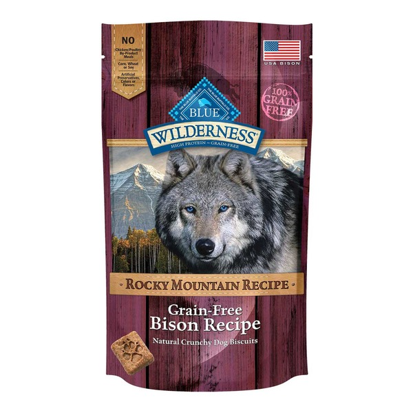 Blue Buffalo Wilderness Rocky Mountain Recipe Grain Free Bison Dog Biscuits