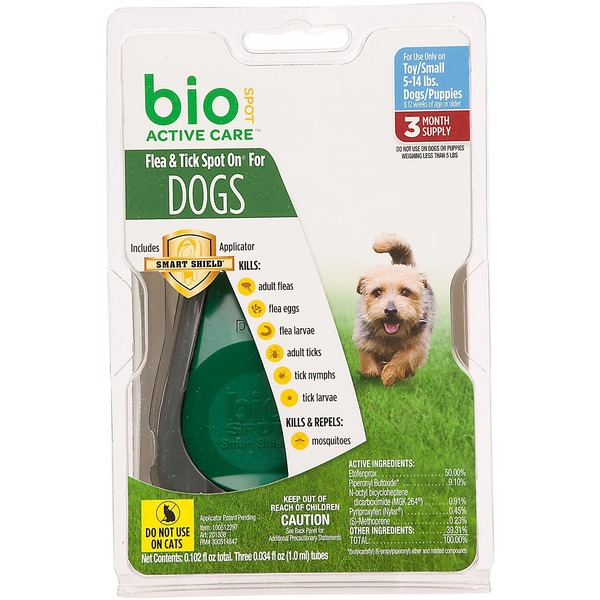 Bio Spot Active Care Flea & Tick Small Dog Spot On Applicator
