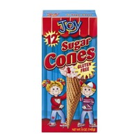 Joy Sugar Cones Gluten Free - 12 CT