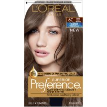 L'Oreal Paris Superior Preference Fade-Defying Color + Shine Hair Color, 6C Cool Light Brown, 1 Kit