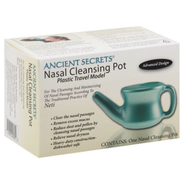 Ancient Secrets Travel Neti Nasal Cleansing Pot