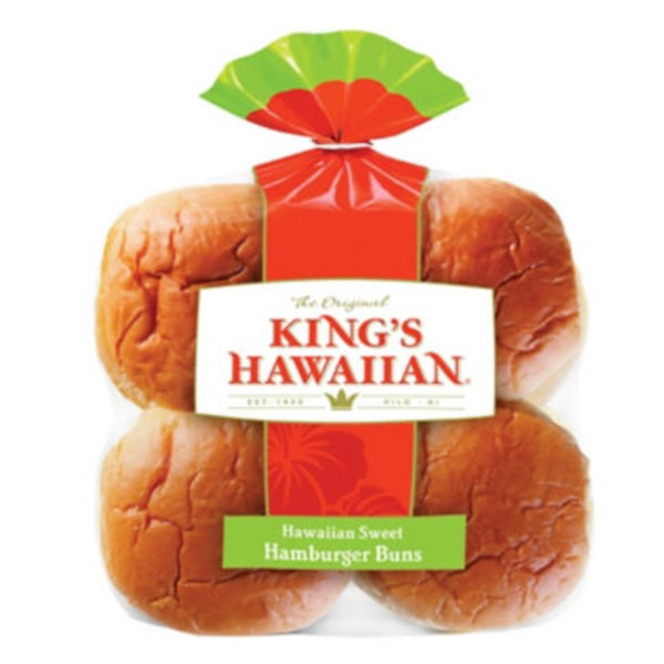 King's Hawaiian Original Hawaiian Sweet Hamburger Buns