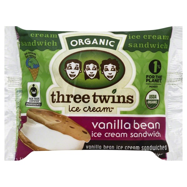 Three Twins Organic Vanilla Bean Ice Cream Sandwich