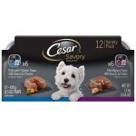CESAR SAVORY DELIGHTS Variety Pack Rotisserie Chicken and Filet Mignon Dog Food (12 Count)