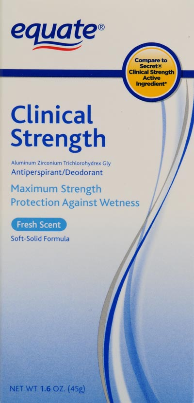 Equate Clinical Strength Fresh Scent Antiperspirant Deoderant