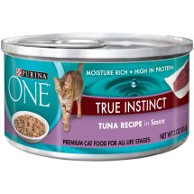 Purina ONE True Instinct Tuna Recipe in Sauce Cat Food 3 oz. Pull-Top Can