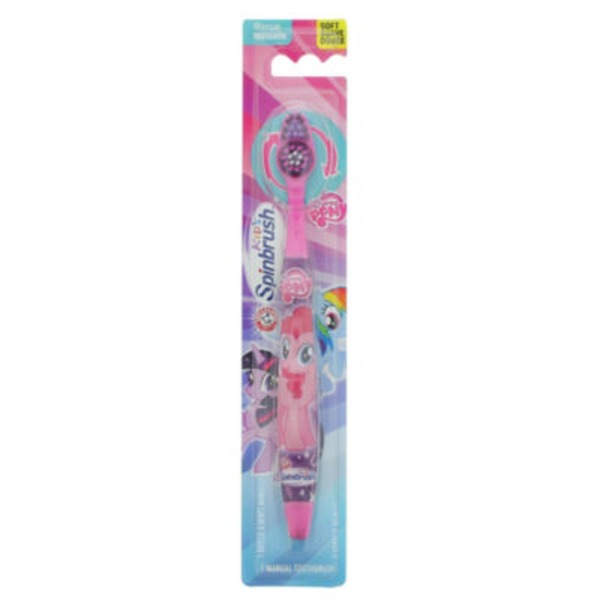 Arm & Hammer Kid's Spinbrush My Little Pony Soft Manual Toothbrush