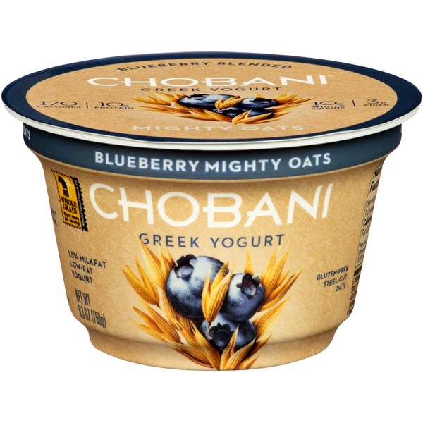 Chobani Mighty Oats Blueberry Blended Low-Fat Greek Yogurt