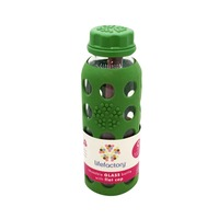 Lifefactory Green Flat Top Glass Bottle With Sleeve