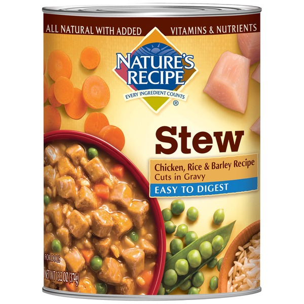 Nature's Recipe Easy to Digest Chicken Rice & Barley Recipe Cuts in Gravy Dog Food