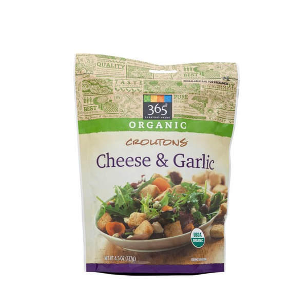 365 Organic Cheese & Garlic Croutons