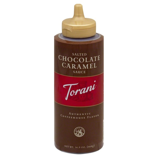 Torani Salted Chocolate Caramel Sauce, Bottle