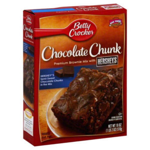 Betty Crocker Delights Supreme Triple Chunk Brownie Mix
