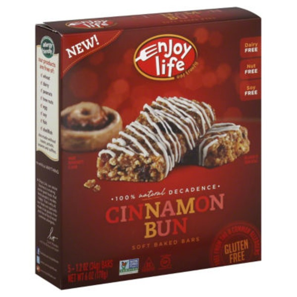 Enjoy Life Soft Baked Bars Cinnamon Bun - 5 CT