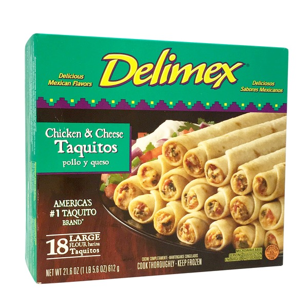 Delimex Large Chicken & Cheese Taquitos