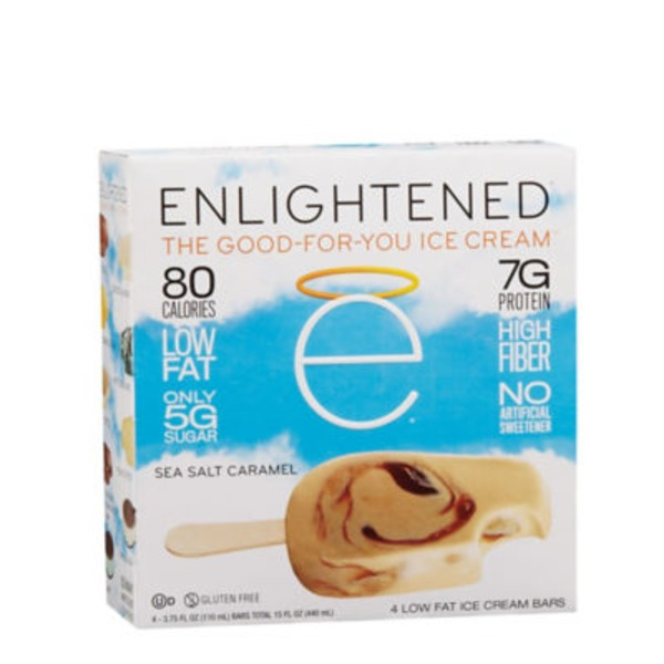 GT's Enlightened Low Fat Ice Cream Sea Salt Carmel Bar