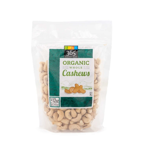 365 Organic Whole Raw Cashews