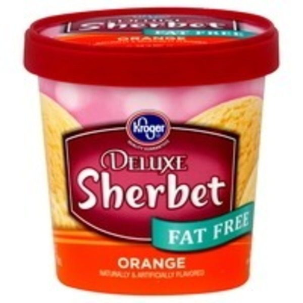 Kroger Fat Free Orange Sherbet