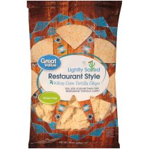 Great Value™ Restaurant Style White Corn Tortilla Chips 13 oz. Bag