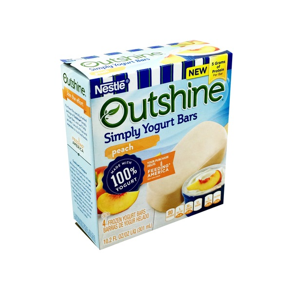 Dreyer's Outshine Yogurt Bars Peach