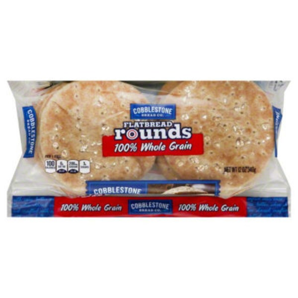 Cobblestone Mill 100% Whole Grain Flatbread Rounds