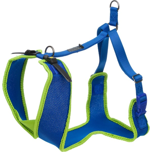 Petco Adjustable Mesh Harness For Big And Tall Dogs In Blue & Green Medium